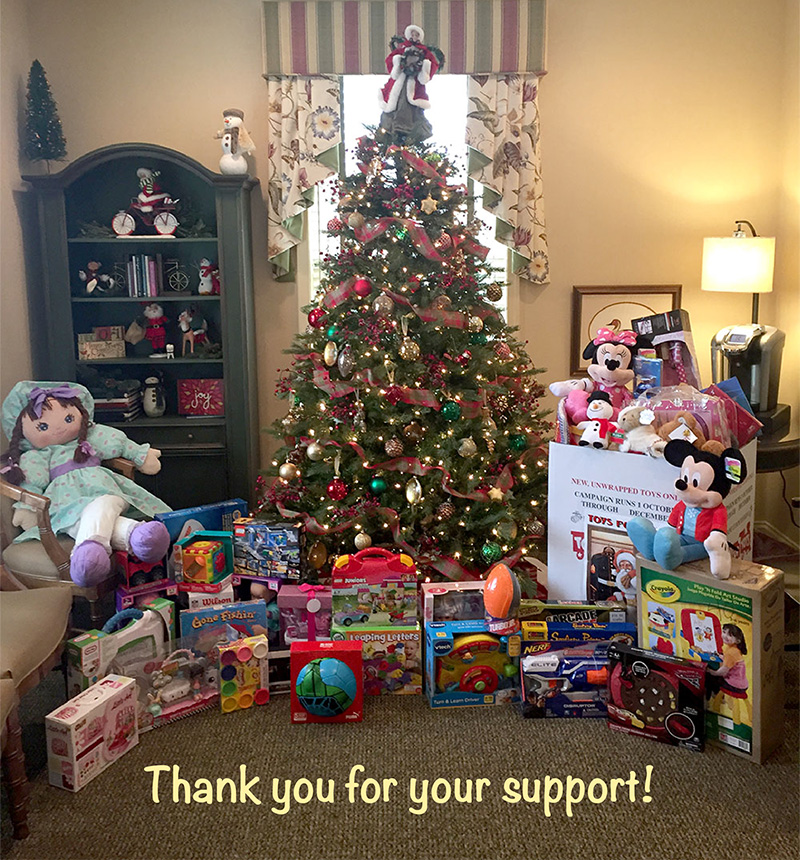 Toys For Tots Family Request : Thank you for donating to the toys tots campaign