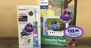 Philips Sonicare For Kids electric toothbrush and coloring book