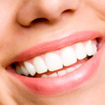 smiling woman with white teeth